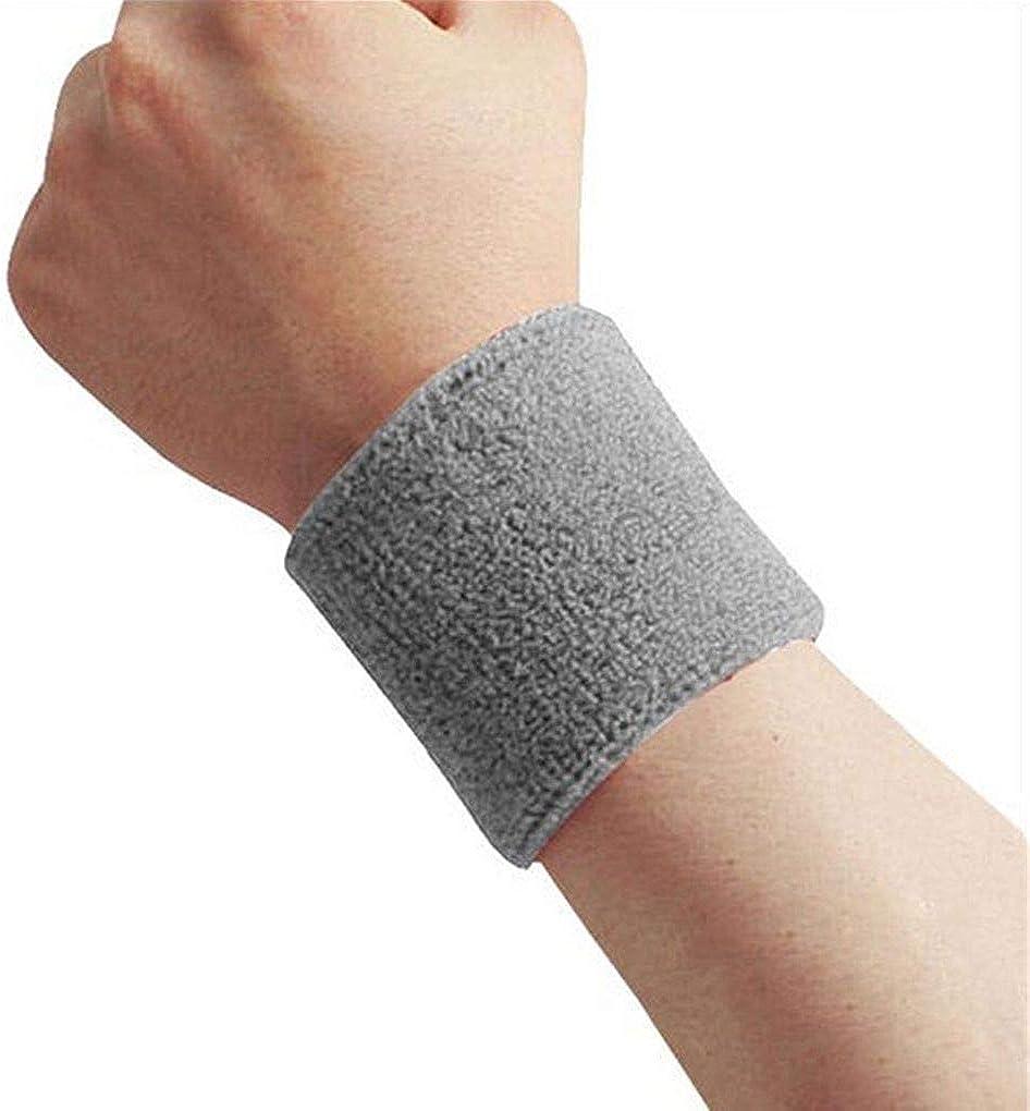 DANDANdianzi 1x Unisex Terry Cloth Cotton Sweatband Sports Wrist Tennis Yoga Sweat WristBand