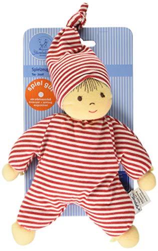 Sterntaler 3015034 Spielpuppe Heiko, Integrierte Rassel, Alter: Für Babys ab der Geburt, 23 cm, Rot/Weiß