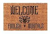 Welcome Foolish Mortals, Haunted Mansion Funny Easy Clean Door Mat Doormat New Home Gift