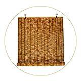 LAK Persianas enrollables de bambú Retro, Cortina de bambú de Tejidas a Mano, 60x70cm 100x80cm 120x150cm Persiana Enrollable Transpirable