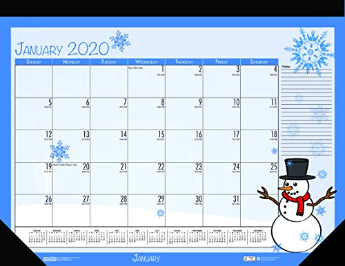 House of Doolittle 2020 Monthly Desk Pad Calendar, Seasonal, 22 x 17 inches, January - December (HOD139-20)
