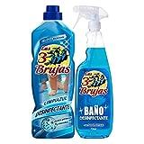 Fregasuelos desinfectante 1l + Baño 750 ml Las 3 brujas
