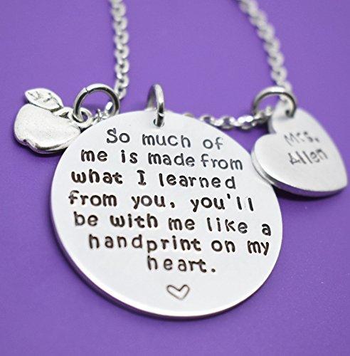 Teacher gifts Thank you Teacher gifts Appreciation Gift for Teacher Teacher necklace