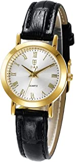 Men Women Quartz Watch Japan Movement Wristwatch Leather Strap Waterproof Wrist Watch Roman Numerals