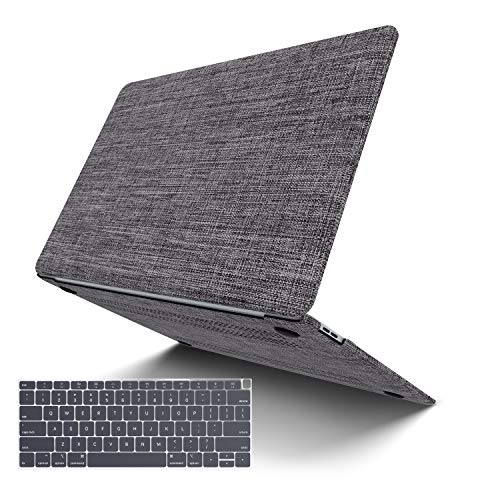 MacBook Pro 15 (2019/2018/2017/2016), JGOO Soft Touch Shell Cover(Fabric), Hard Shell Case Compatible MacBook Pro 15' A1707/A1990, Grey