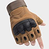 None/Brand Military Fingerless Combat Outdoor Cycling Tactical Gloves Mens Half Finger Gloves Army(Brown)