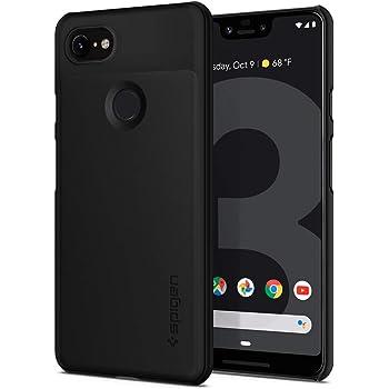 【Spigen】 Google Pixel3 XL ケース 対応 レンズ保護 超薄型 超軽量 指紋防止 シン・フィット F20CS25028 (ブラック)