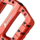 Eigertec Basic MTB Pedals Mountain Bike Pedals Lightweight Nylon Fiber Bicycle Platform Pedals for BMX MTB 9/16' (Orange)