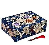 LWW Chinoise Boîte à Bijoux, boîte de Rangement en Bois,