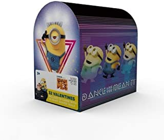 Despicable Me 3 Minions Valentine Cards for Kids with Seals and Mailbox - Pkg. of 32 (39237)