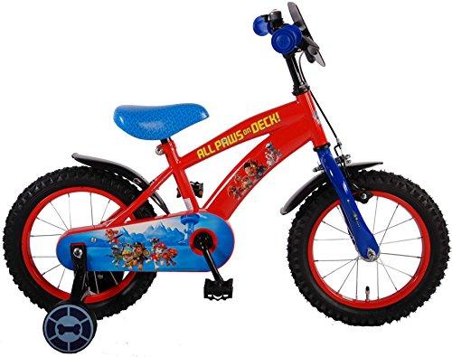 Paw Patrol Vélo pour garçon, Rouge, Bleu