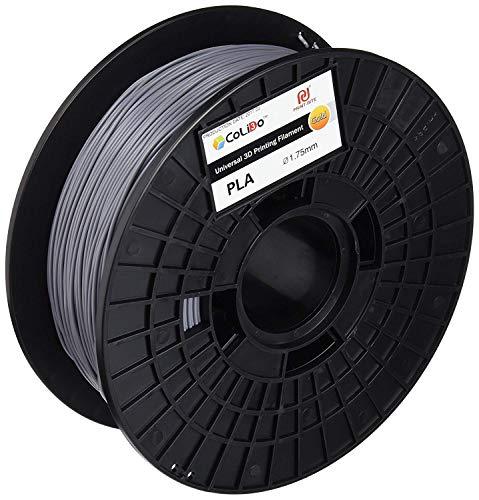 print-rite-europe LFD002E 3D Printer Filament Spool, PLA, 1.75 mm Diameter, 1 kg, Grey