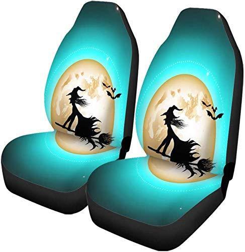 Set van 2 auto stoelhoezen vleermuizen Wicked Witch laarzen Bezem Stick jurk Fairy Tale Universele Auto Voorstoelen Protector Past voor auto, Suv Sedan