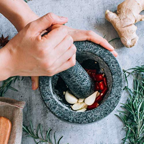 Baoblaze Mörser und Stößel Set Stein Kräuter Stampfer, hergestellt aus ausgewählten hochwertigen, die Textur ist natürlich und elegant, langlebig