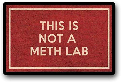 "LHM Felpudo rojo con texto en inglés ""This is Not A Meth Lab Breaking Bad Gift Walter White Funny Red felpudo 40 x 60 cm"