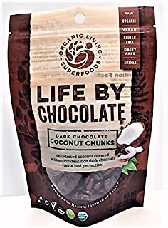 Organic Raw Dark Chocolate Covered Coconut Chunks