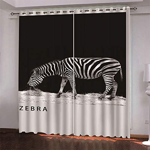 3D Printed Curtains Modern And Simple European Curtains Four Seasons Universal 2 Pieces No Need To Punch