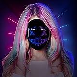 InLoveArts Maschera LED Maschera di Halloween Maschera di spurgo con interruttore a induzione, controllo app Bluetooth, 45 animazioni, 70 immagini per feste, riprese video, cosplay