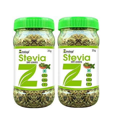 Zindagi Stevia Dry Leaves - Natural & Zero Calorie Sweetener - Stevia Sugar - Sugar-Free (70 gm)