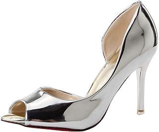 COOLCEPT Women Elegant Peep Toe D Orsay Shoes Stiletto