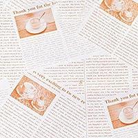 XZJWL 100本食品石油紙食品グレードグリース紙パンのサンドイッチバーガーフライドポテトラッピングワックス紙焼き菓子ツール台所用品 (Color : Brown)