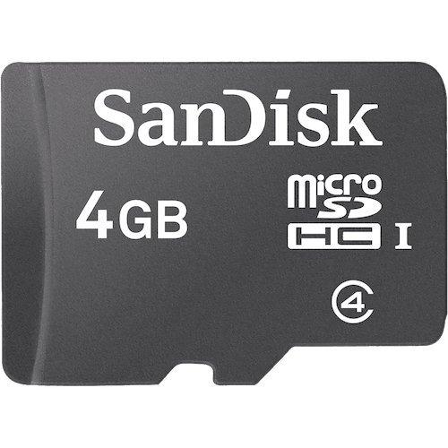 SanDisk Micro SDHC 4GB Class 4 Speicherkarte