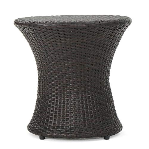 Christopher Knight Home Adriana Outdoor Wicker Accent Table, Multibrown