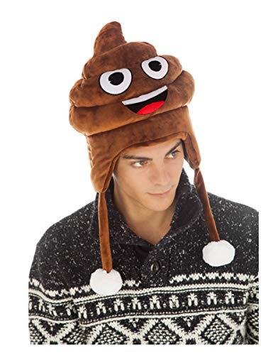 Generique - Witzige Kackhaufen Emoji Mütze für Erwachsene