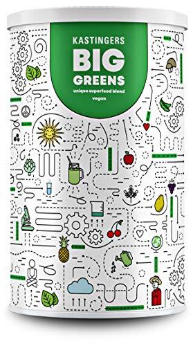 Big Greens Superfood Pulver l 600 g l 20+ Superfoods perfekt kombiniert wie Gerstengras, OPC, Acerola, Reishi, Chlorella l vegan, ohne Laktose & Soja l Hergestellt in Deutschland l 30 Portionen