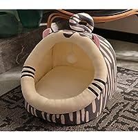 猫のベッド 猫の家 ペット用寝袋 おしゃれ 可愛い ふわふわ 暖かい 柔らかい 小型犬 多機能 冬用 洗える 虎形 XL ドーム型 洗える 猫用ベッド 猫犬小動物用 室内用 厚み 冬寒さ対策