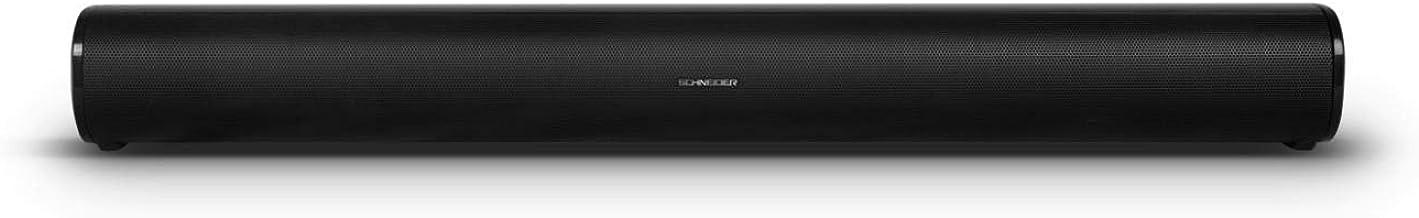 Schneider Consumer - Barra de sonido SC300SND, Soundbar 2.0, 20W (10W x 2), Bluetooth, EspeciaL para PC gaming, Negro