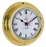 Delite 858cz Altitude Reloj de barco latón pulido, 127 mm x 40 mm