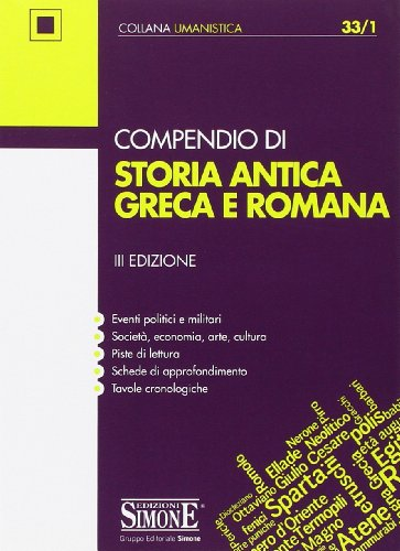 Compendio di storia antica greca e romana