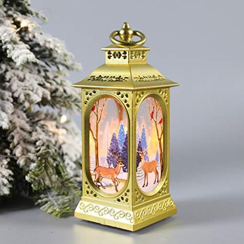 Xisheep Christmas Lantern Led Luminous Creative Decoration Portable Lantern, Christmas Holiday Party Decoration