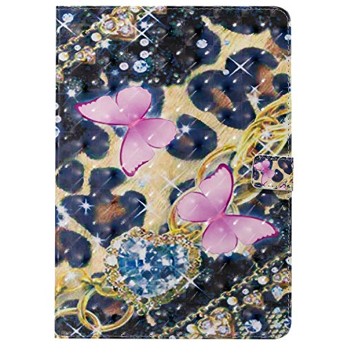 Tablet Shell 3D Creative Painted Design Full-Body Protective Skin Cover with Stand With Credit Card Slots Fit for iPad Pro 10.5/iPad Air 2019/iPad 10.2 2019