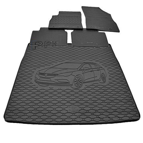 X & Z PPH – Juego de alfombrilla de goma antideslizante para maletero Opel Astra K Sports Tourer a partir de 2015