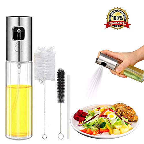 Oil Spritzer Mister for Air Fryer Cooking Olive Oil Sprayer Bottle for Vinegar Canola Vegetable Oil Portable Mini Kitchen Gadgets on BBQ/Pan/Salads/Baking