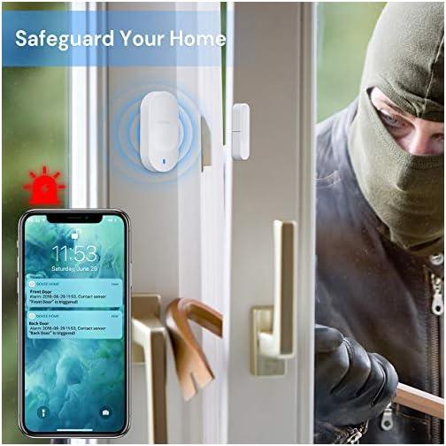 Govee WiFi Door Sensor, Smart Door Motion Sensor Works with Amazon Alexa APP Control, 2 Door Open Alarm and 1 Wi-Fi… 4