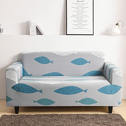 Funda de sofá Floral elástica con Todo Incluido Funda de sofá Funda de sofá con diseño de Ciervos navideños Funda de protección para Muebles Funda de sofá A11 1 Plaza
