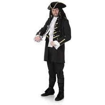 Generique Disfraz de Pirata Negro Hombre XL: Amazon.es: Juguetes y ...