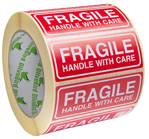 1000 Adhesivos Fragile Handle With Care Adhesivos 90x35mm