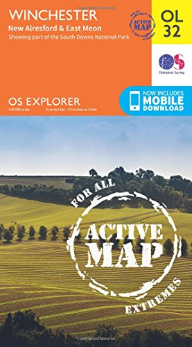 Price comparison product image OS Explorer ACTIVE OL32 Winchester,  New Alresford & East Meon (OS Explorer Map Active)