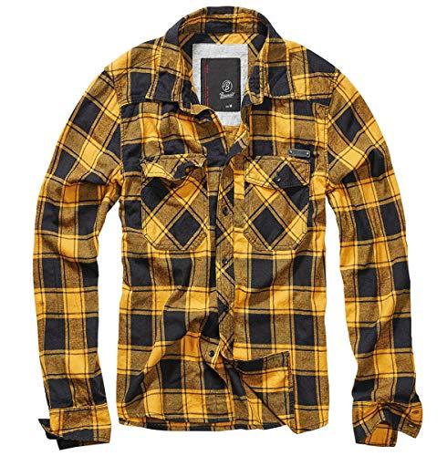 Brandit Check Shirt Men Fred Black-Yellow XL