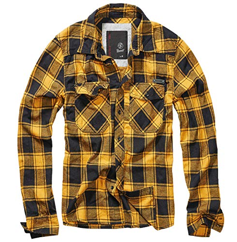 Brandit Check Shirt Men Fred Black-Yellow L