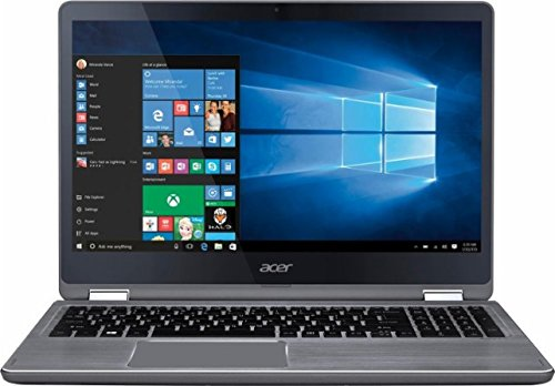 Acer Aspire R5 2-in-1 Convertible 15.6 FHD IPS Touchscreen Laptop(2017 Model), Intel Core i5-7200U 2.5GHz, 8GB DDR4 Memory, 1TB HDD, Backlit Keyboard, HDMI, Bluetooth, WiFi, Windows 10