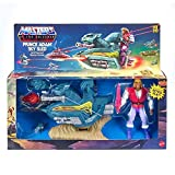 Prince Adam Sky Sled & Figure Masters of the Universe Retro Action Figure Set 5.5""