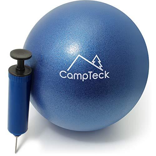 CampTeck U6812 Pelota Pilates Pequeña PVC Anti Pinchazos 23cm Pelota Yoga Balón Pilates para el Ejercicio, Gimnasio, Fitness, etc. con Bomba de Mano – Azul