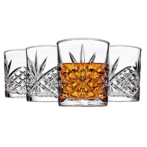 Godinger Dublin Double Old Fashioned Glasses, Set of 4