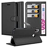 Cadorabo Book Case works with HTC U12 LIFE in OXID BLACK -