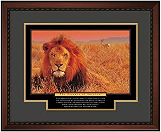 Successories 732671 The Essence of Survival Motivational Poster with Walnut Wood in 1.5